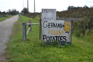 German Potatoes sign