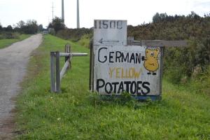 German Potatoes sign